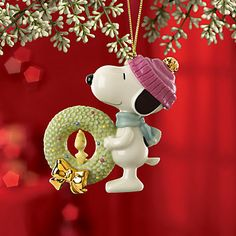 SNOOPY™'s Christmas Wreath Ornament by Lenox