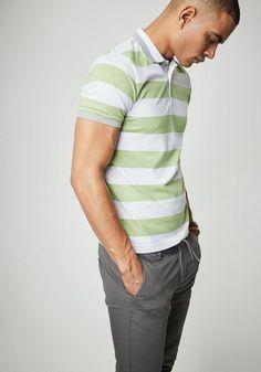 PIERRE CARDIN Jersey Poloshirt mit Blockstreifen - Regular Fit ab 59,99€. Jersey Poloshirt in Blockstreifenoptik, Regular Fit bei OTTO