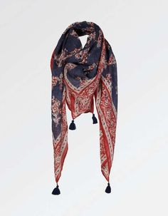 Vintage Heart Square Scarf