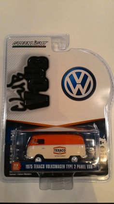GreenLight Club V-Dub 1975 Texaco VW Type 2 Panel Van 1:65 Mean Machine, T1 T2, Collectible Toys, Texaco, Diecast, Volkswagen, Collections, Club, Type