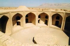 The caravanserai from above