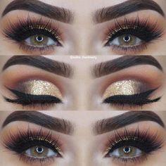 Eye Makeup: 41 Gorgeous Makeup Ideas for Brown Eyes. Eye Makeup: 41 Gorgeous Makeup Ideas for Brown Eyes. Hazel Eye Makeup, Makeup For Green Eyes, Eye Makeup Tips, Smokey Eye Makeup, Makeup Ideas, Smoky Eye, Makeup Quiz, Makeup Glowy, Gold Makeup Looks