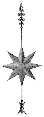 Vintage Steampunk Clip Art - Compass Rose - Star - The Graphics Fairy