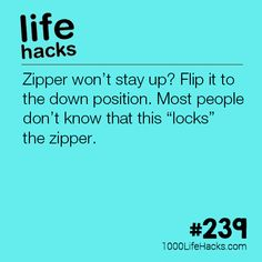 #239 – How To Keep Your Zipper Up