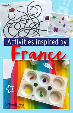 Next on our imaginary activity tour of the world, we're crossing the pond to France! Keep scrolling for lots of super French activities for your little one to… Kids Inspire, Tours France, Famous French, Pointillism, French Artists, Some Fun, Activities For Kids, Inspired, Game