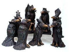 The Court of the Crows by Tracy Wright Zoo Ceramics