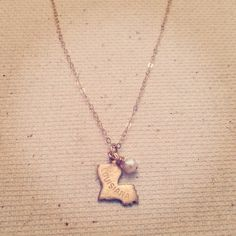 Louisiana  Charm Necklace by MariahBennett on Etsy, $28.00 I really want something like this... I miss home so much.