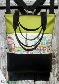 CITY BAG HÁTIZSÁK/OLDALTÁSKA/VÁLLTÁSKA : Paris Mon Amour 1. (moneszka) - Meska.hu City Bag, Bago, Diaper Bag, Paris, Love, Montmartre Paris, Diaper Bags, Mothers Bag, Paris France