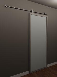 Modern Glass Interior Barn Doors Doors Doors Glass