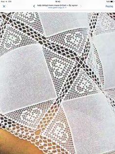 Crochet Tablecloth, Crochet Doilies, Crochet Lace, Filet Crochet, Crochet Stitches, Crochet Patterns, Magia Do Crochet, Crochet Pillow, Learn To Crochet