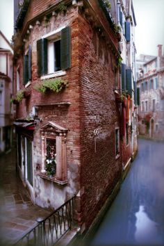 Mist rising from Venice Canal, Italy