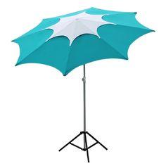 71.00$  Buy here - http://aliwo7.worldwells.pw/go.php?t=32770459299 - Abba Patio 7-1/2-Feet Fiberglass Rib Beach Patio Aluminum Umbrella with 2 Sand Anchors and Push Button Tilt Turquoise 71.00$