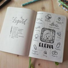 Legend (#bulletjournalkey) and About Me page - Bullet Journal