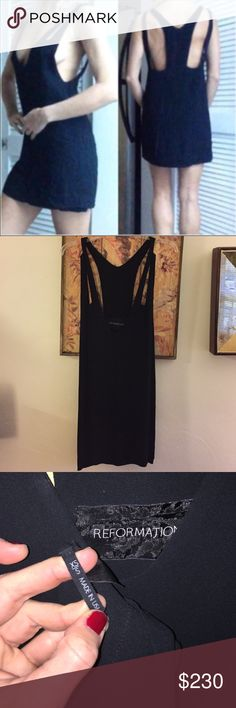 AUTH REFORMATION Little black dress plunge XS S AUTH THE REFORMATION Designer brand Little black dress plunge WMNS SZ XS S $380 Made in USA Open to all reasonable offers-COMBINED SHIPPING DISCOUNT FOR MULTIPLE ITEMS. All items come from a CLEAN, SMOKE-FREE home Reformation Dresses