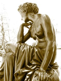 Statue Photography Sepia Photography French by CrazyFabBoutique