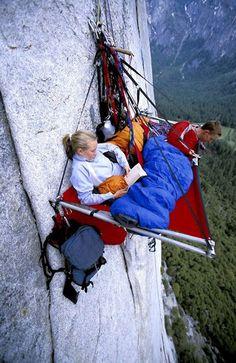 alpiniste campement vide