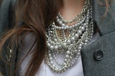 good combo: pearls and silver links