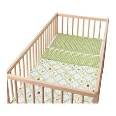 TORVA BLAD Dekbedovertrek voor babybed IKEA Satijngeweven katoen met extra glans, voelt lekker zacht aan tegen de huid.