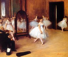 Edgar Degas - The Dancing Class, 1871 at New York Metropolitan Art Museum | por mbell1975