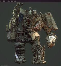 Castlevania: Lords of Shadow 2. Golem , Jose Grandal on ArtStation at https://www.artstation.com/artwork/castlevania-lords-of-shadow-2-golem