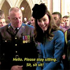 Kate meeting veterans at a reception at Royal Courts of Justice. February 7th 2016