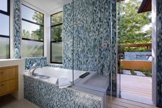 Palo Alto Green Point Rated House - Contemporary - Bathroom - san francisco - by Cathy Schwabe Architecture