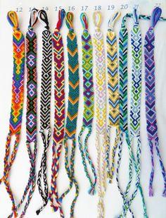 Colorful Friendship Bracelets Hippie bracelets by CraftyMotMot