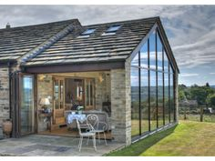 The Barn - House conversion on Behance Contemporary Barn, Modern Barn, Modern Farmhouse, Contemporary Classic, Country Farmhouse, Contemporary Architecture, Farmhouse Decor, Cottage Extension, House Extension Design