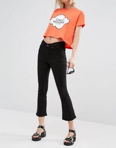Cheap Monday - Drift - Jeans skinny a vita alta sopra la caviglia