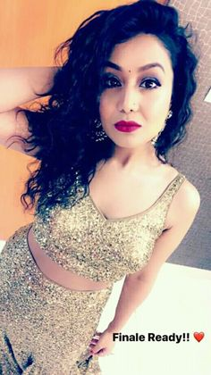 Neha kakkar ❤❤❤ Neha Kakkar Dresses, Disney Princess Pictures, Ethnic Sarees, Girls Dpz, Bollywood Actors, Dimples, Indian Wear, Queen, Wedding Makeup