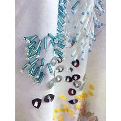 Close up only one of my handkerchiefs.. #ccadtextiles #weareccad #textiles #surfacedesign #beading #beads #stitch #embroidery #art #design #designer #uni #work #thread #beadstack #sequins #hankie #handkerchief #fabric #contemporary #exposeme #textiledesigner