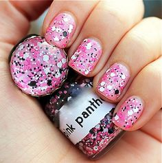 Pink Panther :  Custom-Blended Glitter Nail Polish / Lacquer/ indie polish