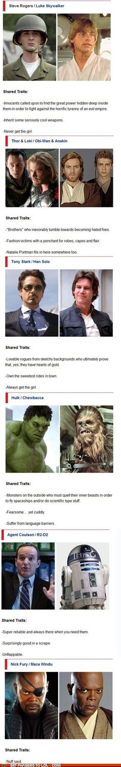 Star Wars Vs. Avengers. missing black widow vs laya but close enough :)