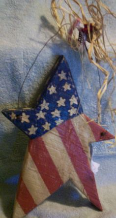 Country Primitive Americana Wooden Barn Board Star by DRW1ofaKinds, $25.00