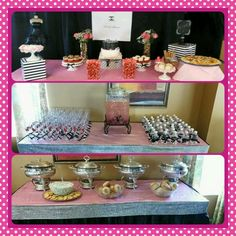 Chanel inspired bridal shower by Jump the Broom Event Planning #black #pink