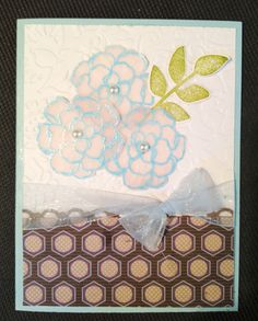 Flower stampin up card.