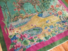 Antique Chinese Art Deco Rug Size 8'10''x11'6'' Perfect Condition #Chinese