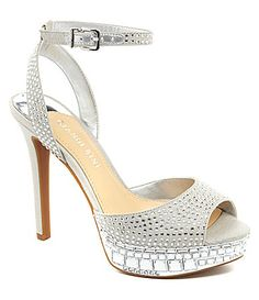 Gianni Bini Moniquee Jeweled Platform Sandals #Dillards