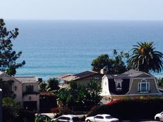 View from the third floor of the conference hotel, the Clarion Del Mar Inn