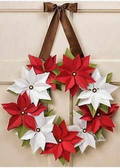 Cierra los ojos e imagina...: Una corona de Navidad...