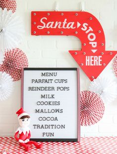 elf on the shelf north pole breakfast party ideas