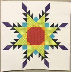 """free: Paper Pieced Feathered Star - 18"""" Block 
