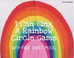With St Patrick's Day coming along soon, here is a lovely circle game to go with the popular song 'I Can Sing a Rainbow'. It's perfect to fit in with a St Paddy's/ Rainbow theme but as it's such fun the children will probably want to play it at any other …