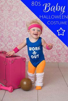 Girls 80's Halloween Costume , Toddler Workout Costume , Girls 80's Workout Costumes , Baby Workout Costume, Aerobics Girl Instructor