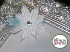 Ribbon Sculpture - Christmas Snowflake - Hair Bow Clip - Clippie -  Winter - Snow - Ice - (Toddler Girl, Baby Girl, Holiday, Fun, Holidays) on Etsy, $3.00