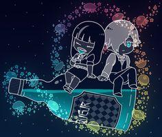 Love this art....Chibi!Chiyuki and Decim :)