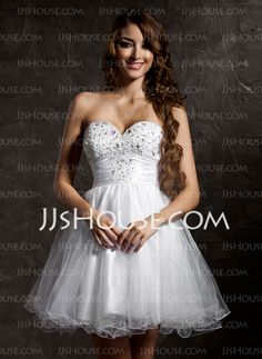 Homecoming Dresses - $97.49 - A-Line/Princess Sweetheart Short/Mini Tulle Homecoming Dress With Beading (022020899) http://jjshouse.com/A-Line-Princess-Sweetheart-Short-Mini-Tulle-Homecoming-Dress-With-Beading-022020899-g20899