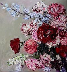 Beautiful Drawings, Australian Artists, Textile Prints, Contemporary Paintings, Flower Art, Printmaking, Artsy, Abstract, Art Floral