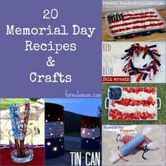 20 Memorial Day Recipes & Crafts #memorialday
