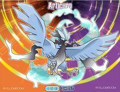 Articuno Alola Form Pokemon Fusion Art, Pokemon Alola, Pokemon Pokedex, Pokemon Stuff, Alola Forms, Pokemon Omega, Mega Evolution, Eevee Evolutions, Original Pokemon